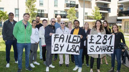 Neighbours living in Chase House and Franklin House protesting at neglect by landlord L&Q. Picture: