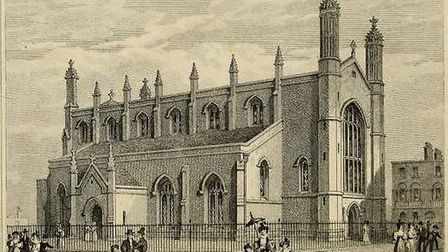 The Holy Trinity Church in Cloudesley Square.