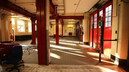 An empty Clerkenwell Fire Station, after its last ever shift clocked off at 9.30 this morning (Peter