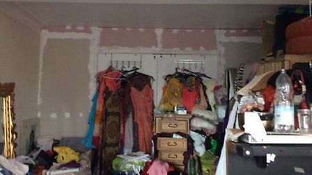 One of the rooms in Diana Thompson's house of multiple occupation in Barn Way, Wembley. Picture: Bre
