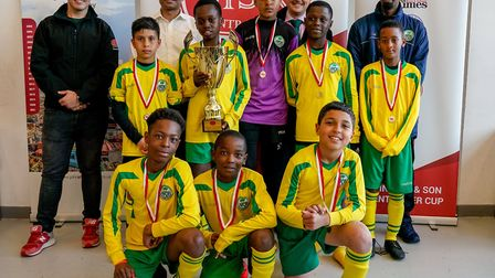 Boys Under 12 winners AFC Wembley. Picture: Nabeel Baig