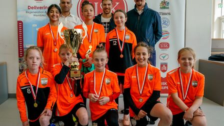Girls Under 12 winners London Bees. Picture: Nabeel Baig