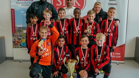LNER winners of the U10s Brent Super Cup. Picture: Nabeel Baig