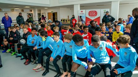 Some of the 21 teams getting ready to compete at the Brent Super Cup tournament. Picture: Nabeel Bai