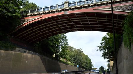 The Hornsey Lane bridge going over Archway Road. Picture: Polly Hancock