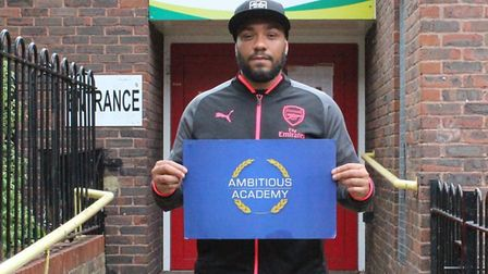 Shawdon Smith from Ambitious Academy outside St John's community centre. Picture: Ambitious Academy