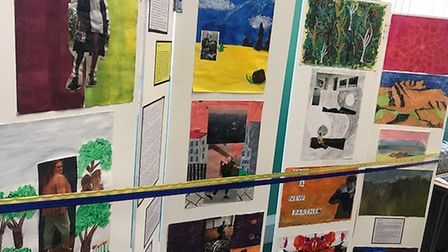 Art from the Hestia exhibition at Kilburn Library. Picture: Kinny Pabari