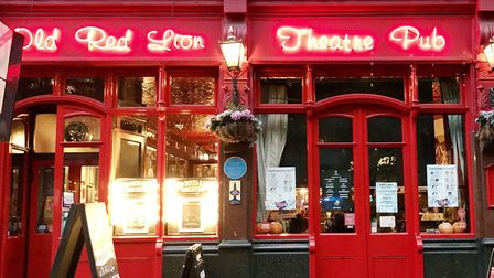 The Old Red Lion Theatre Pub in St John Street. Picture: Dieter Perry