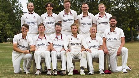The North Middlesex players line up to face the camera