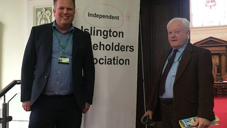 Cllr Diarmaid Ward and Dr Brian Potter. Picture: Lucas Cumiskey