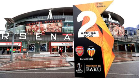 General view outside the stadium before the UEFA Europa League Semi final, first leg match at The Em
