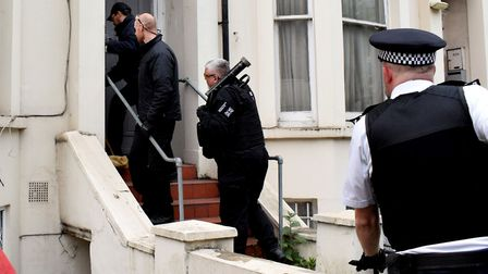 Police use a rapid entry team to gain access to a property during a Section 23 drugs warrant on May