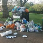 The mess at Highbury Fields after the bank holiday sunshine. Picture: Beatrice Sayers