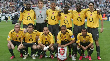 Arsenal players line up. Picture: Martin Rickett/PA Archive/PA Images