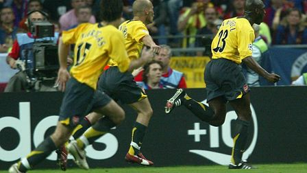 Arsenal's Sol Campbell celebrates his goal. Picture: Martin Rickett/PA Archive/PA Images