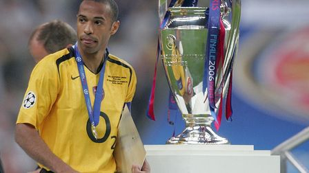Arsenal's Thierry Henry after Barcelona's victory. Picture: Martin Rickett/PA Archive/PA Images