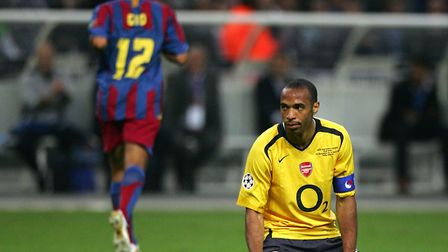 Arsenal's Thierry Henry. Picture: Nick Potts/PA Archive/PA Images