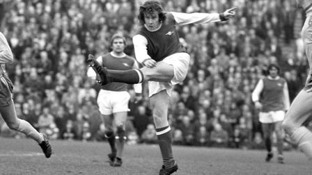 Liam Brady, in action for Arsenal. Picture: PA