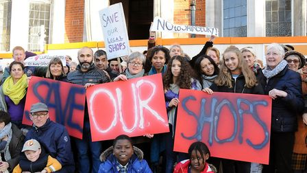 Neighbours protesting the latest Sainsbury's application in 2016. Picture: Dieter Perry