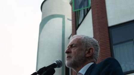 Jeremy Corbyn at Finsbury Park Mosque street iftar. Picture: Joshua Thurston
