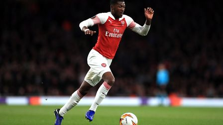 Arsenal's Ainsley Maitland-Niles during the UEFA Europa League Semi final, first leg match at The Em