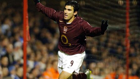 Arsenal's Jose Antonio Reyes celebrates his goal against Reading during the Carling Cup, fourth roun