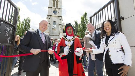 Opening of the Cally Clock Tower. Picture: Steve Bainbridge
