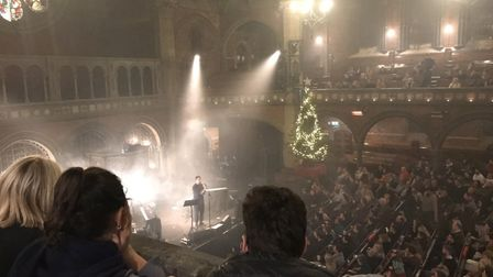 Orlando Weeks performs at Union Chapel in December 2018.