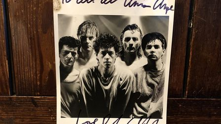 The archive features a signed note from Bob Geldof.