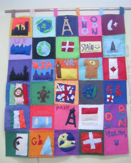 An international-themed wall hanging created by kids at Tufnell Park Primary School. Picture: Tufnel