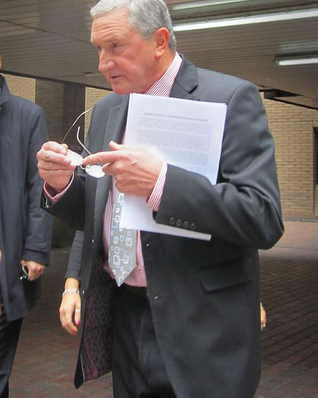 Former headteacher of Copland, Sir Alan Davies, outside Southwark Crown Court in 2013. Picture: PA I