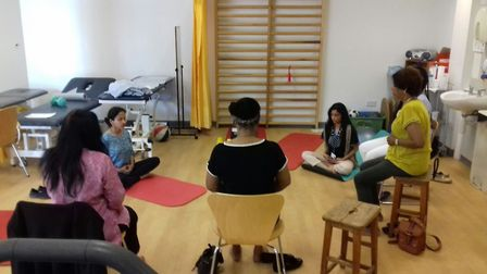 Rheumatology patients are campaining for Yoga Therapy clinics at Central Middlesex Hospital. Picture