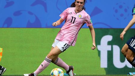 Scotland's Lisa Evans during the FIFA Women's World Cup, Group D match at Roazhon Park, Rennes. Pict