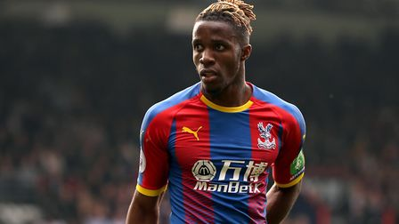 Crystal Palace's Wilfried Zaha during the Premier League match at Selhurst Park, London. Picture: Is