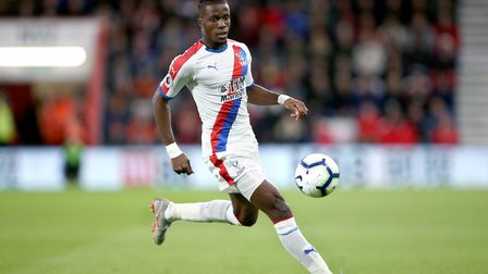 Crystal Palace's Wilfried Zaha during the Premier League match at the Vitality Stadium, Bournemouth.