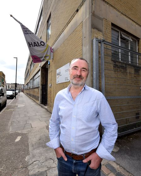 Yann Guenancia MD of Halo, outside Rebond House Brewery Rd N7. Picture: Polly Hancock