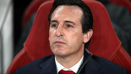 Arsenal manager Unai Emery during the UEFA Europa League round of 32 second leg match at the Emirate