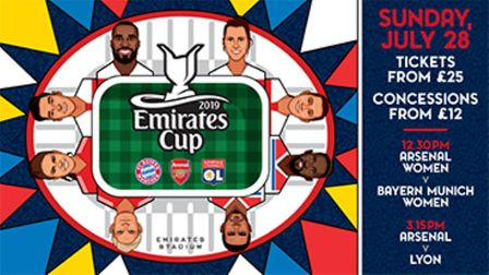 Win a set of four tickets to the Emirates Cup. Picture: Arsenal FC