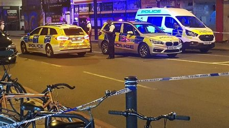 Police were called to reports of gunshots in Seven Sisters Road. Picture: @999london