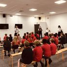 Police giving safety advice to youngsters at the Sobell Leisure Centre. Picture: Brian Smith