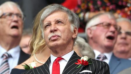 Arsenal Owner Stan Kroenke (left) and Arsenal Chairman Chip Keswick (right) in the stands during the