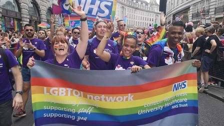 Northwick Park Hospital staff and LNWH trust colleagues at the Pride in London festival.