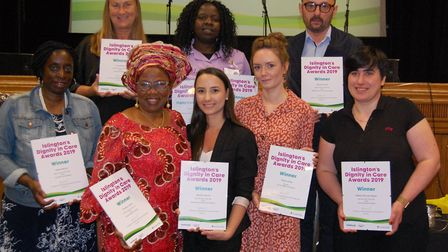 Islington's Dignity in Care Awards winners 2019. Picture: Islington Council