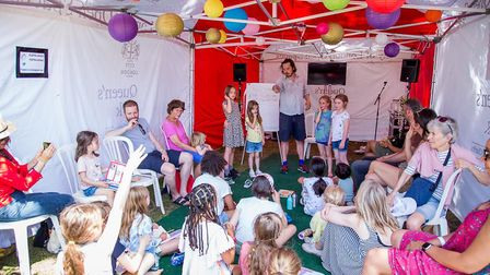 The children's tent at the Queen's Park Book Festival. Picture: Cathy Teesdale