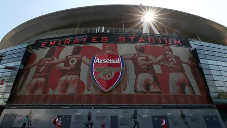 General view of the stadium ahead of the Premier League match at The Emirates Stadium, London. Pictu