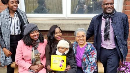 Dawn Butler withSimonne Kerr, her son and family (Pic ture: Sickle Cell Society)