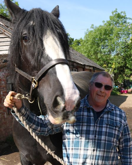Gordon Sheridan who can ride again after his leg was saved by Northwick Park's vascular team.