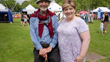 Emily Thornberry, MP for Islington South and Finsbury, and a local resident at the Big Jewish Summer