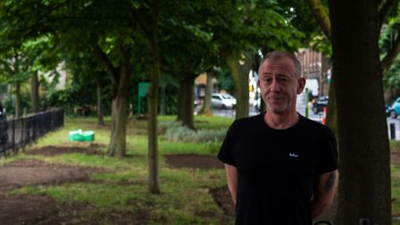 Paul Saunders is appealing for artists to help design his wildflower meadow. Picture: Joshua Hurston