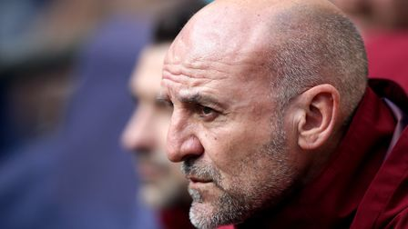 Arsenal's assistant manager Steve Bould during the Premier League match at Wembley Stadium, London.